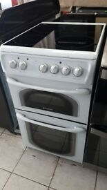 Hotpoint 50cm Ceramic Double Oven Electric Cooker with 4 MONTHS WARRANTY