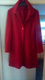 Ladies red coat size 14