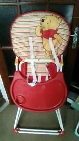 Winnie the pooh high chair brand new