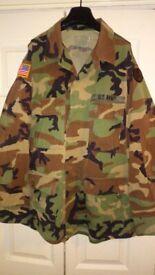 US ARMY FLAG PACH MILITARY CAMO JACKET