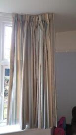 Striped handmade curtains