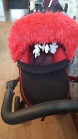 Pram carry cot car seat