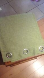 Dunelm Vermont green fully lined curtains W 168 D 182 (each)