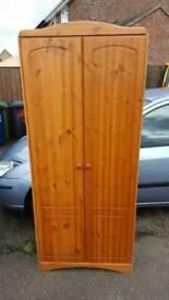Wooden double wardobe