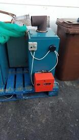 Very good condition warmflow oil fired boilers and burners can also install