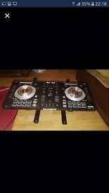 Numark Mixtrack Pro 3 with laptop stand and wires