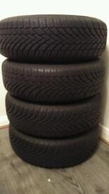 Continental Winter Tyres with wheels, like new. Size 195/65 R15