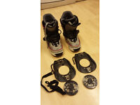 K2 Snowboard ladies boots and step in bindings size UK 5.5