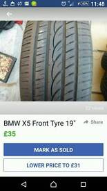 Bmw x5 front tyre