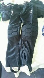 Goal keeper shorts, trousers and top