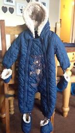 2 9-12m snowsuits...Tigger/Ted Baker