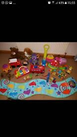Toy bundle. Inc lamaze, Fisher price and more