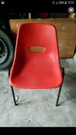 50 x red plastic chairs