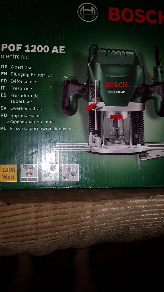 Bosch pof 1200 ae router new in wallsend tyne and wear gumtree bosch pof 1200 ae router new greentooth Choice Image