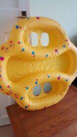 Twin swimming float