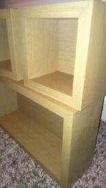 Cube shelves,
