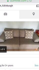 Excellent condition grey sofa!