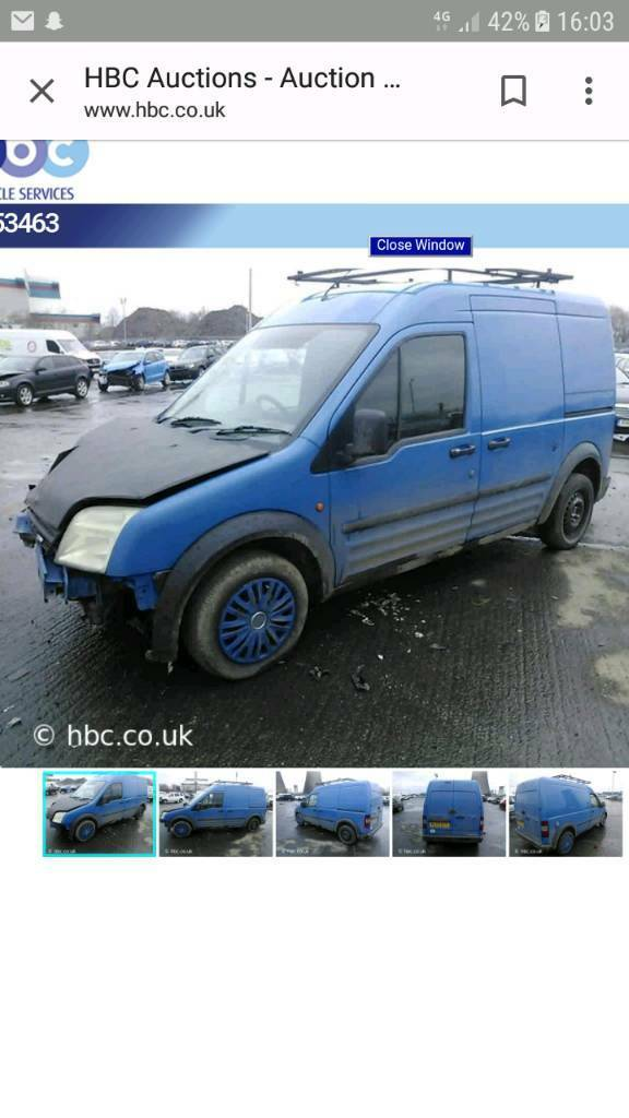 FORD TRANSIT CONNECT 1 8 TDCI BREAKING FOR