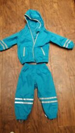 toddler waterproof jacket and trousers age 1-2 and a half