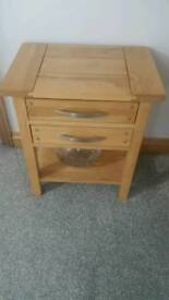 Solid oak lamp /occasional table