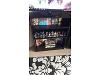 Black bookshelf unit strong and sturdy