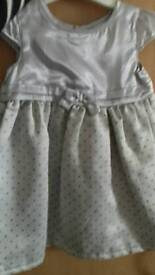 Silver party dress 12-18 months