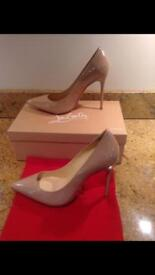 Christian Louboutin Nude High Heel all sizes available