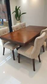 Beautiful brown wooden checkered effect table