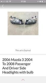 Mazda 3 headlights