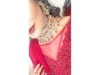 Indian Asian Pakistani Artifical Jewellery for Parties or Weddings. Red and Gold Jewellery