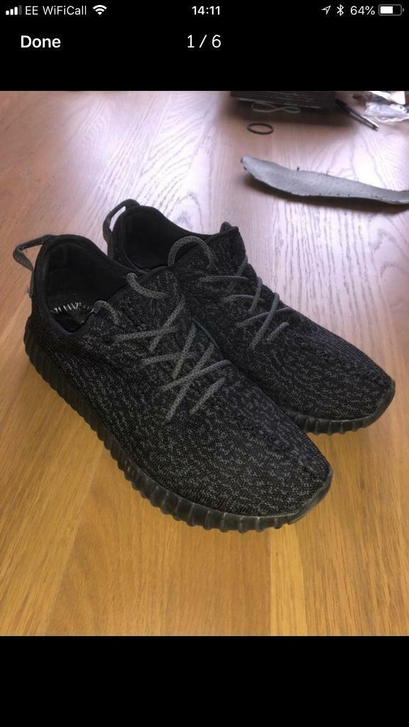61bc93735 Yeezy boost 350 pirate black uk11 trainers kanye west