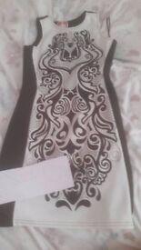 Size 10 Black and White Beautiful Dress