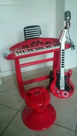 Electric Keyboard and guitar