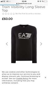 EA7 long sleeved top (large)