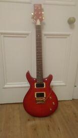 Vintage Red Electric Guitar