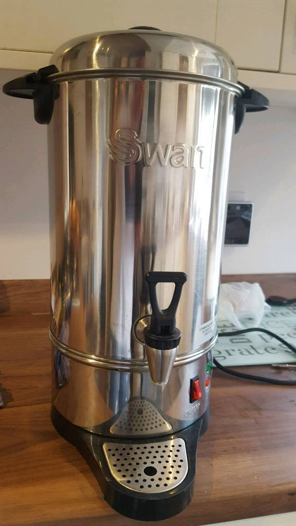 SWAN ELECTRIC 10 LITRE COMMERCIAL CATERING URN TEA COFFEE HOT WATER ...