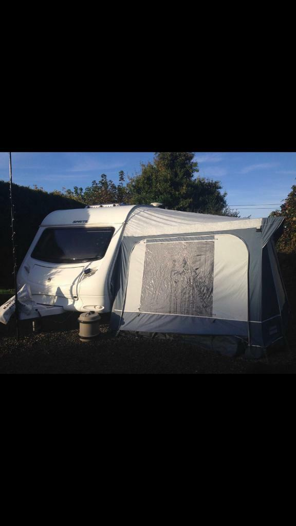 2007 sprite musketeer 4 berth with full awning and porch, and motor mover,