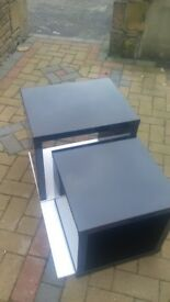 Brand New Echo Nest of Tables,BLACK High Gloss,35mm Thickness