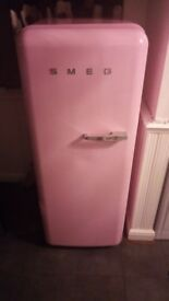 SMEG bright pink fridge