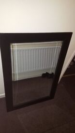 Large black frame wall mirror for bedrooms living front or back rooms