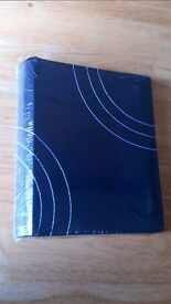 new black faux leather photo album 200 stranded size pictures