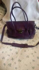 TM Lewis Purple Leather Handbag