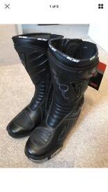 Buse Black Motorcycle Sports Boots SIZE: EU 39 UK 5