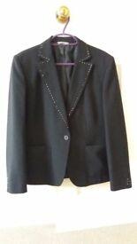 Elegant black size 12 Marks & Spencers jacket for sale