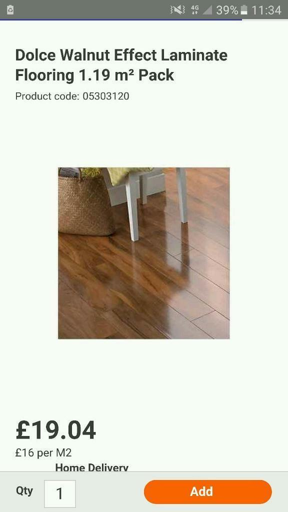 Dolce Walnut Effect Laminate Flooring 119 M Pack In Withington