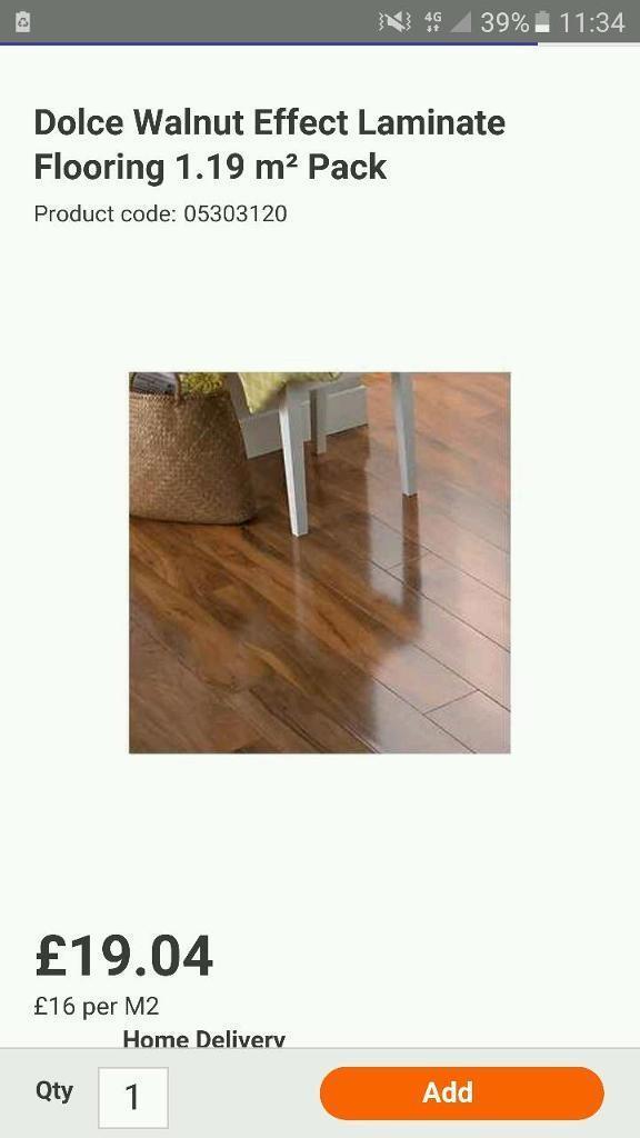 Dolce Walnut Effect Laminate Flooring 1 19 M 178 Pack In