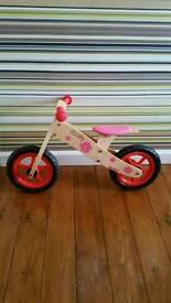 **SOLD** Girls Wooden Balance Bike | VGC |