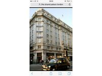 London hotel stay 2 people for 2 nights b&b. The Strand Palace cost over £300 selling for £250 onov.