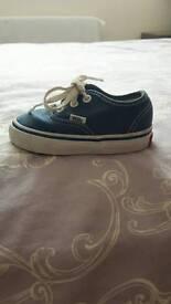 Toddler Authentic Navy Vans UK 4
