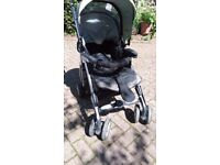 Silver Cross 3D travel system, pushchair/stroller inc car seat and pram insert